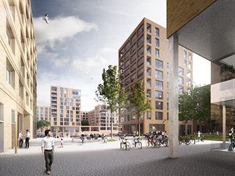 HafenCity Hamburg Elbbrückenquartier Rendering Hosoya Schaefer Architects