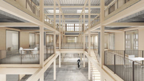 Bluefactory Fribourg Interieur Hosoya Schaefer Architects