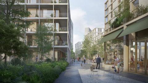Hosoya Schaefer Architects Nordspitze Basel Migros Genossenschaft Visualisierung